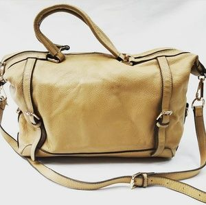 ORA DELPHNE tan leather Adele  satchel